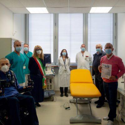 10.2020 Lettino da visita donato al reparto di Radiologia dell'ospedale ULSS 3 Serenissima di Mirano